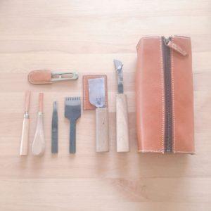 革のツールボックス 工具箱 ナチュハナ ハナヒヨ